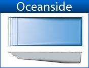 "OCEANSIDE Width 16' 2"" / 4.93M Length 40' 6"" / 12.34M Depth 6' 4"" / 1.93M Area 602ft2 / 56M2 Volume 20600G / 77979L"