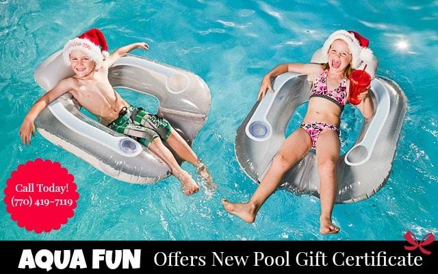 Aqua Fun Christmas Gift Certificate