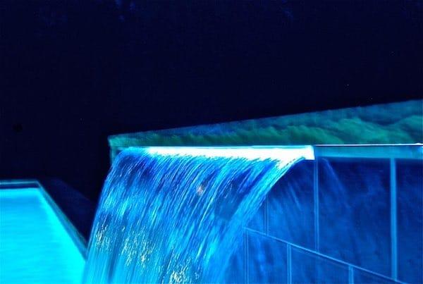 pool waterfall lighting. White Waterfall Lighting Pool T