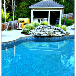 swimming pool and landscaping
