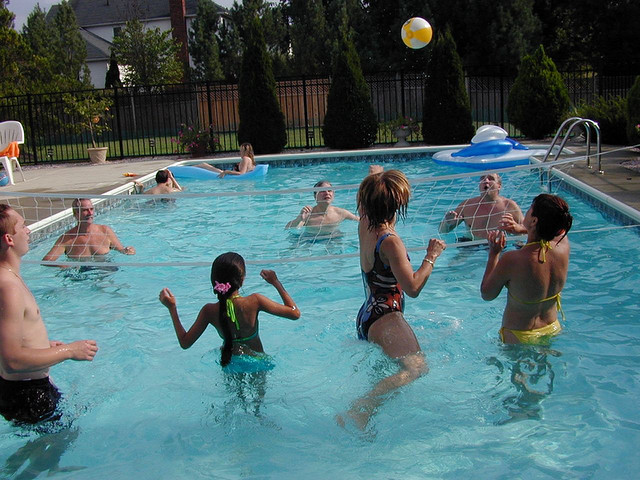 Pool games labor day