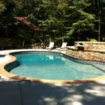 Beautiful new swimming pool built by Aqua Fun Inc. of Canton, GA.